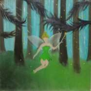 Tinkerbell oil painting.